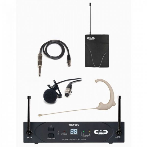 CAD Audio - STAGE SELECT 1600 SERIES UHF BODYPACK SYSTEM - WX1610G